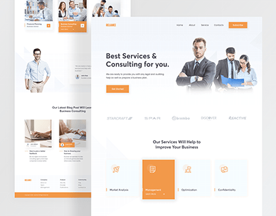 Business Consulting Landing Page