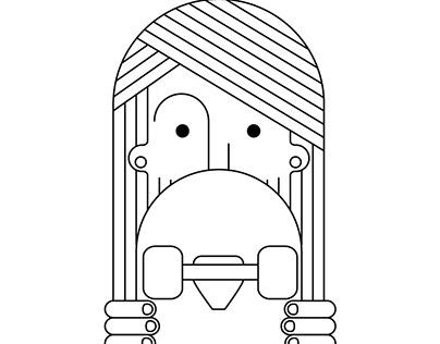 skate 90´s / Illustration
