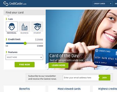 CreditCarder website design