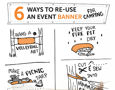 6 Ways to Re-use an Event Banner Info-graphic