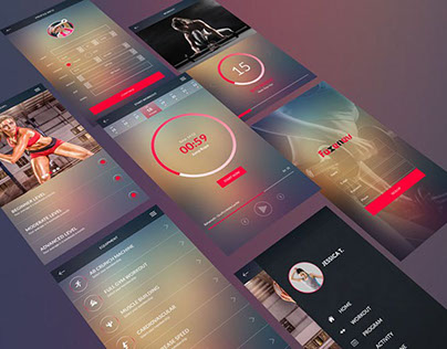Free Workout Apps UI Design