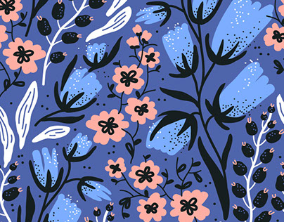 """Birds & Blooms"" - vector patterns collection."