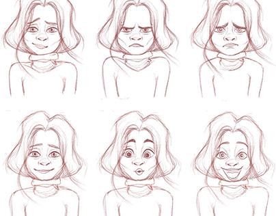 Facial expression studies