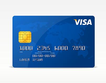 visa card template