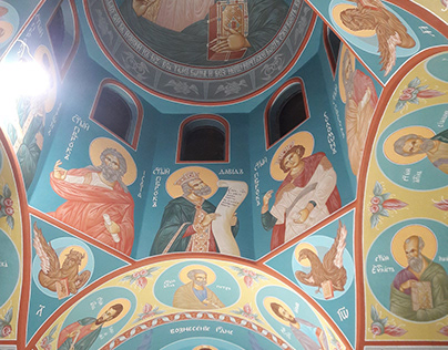 Fresco from the church St. St. Cyril and Methodius