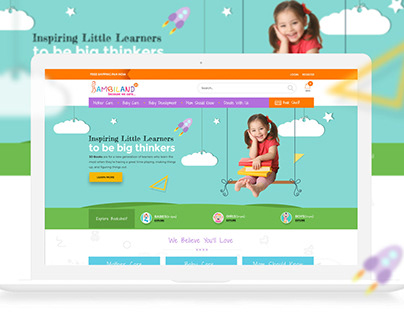UX/UI Design For Baby Care & Online Bookstore.