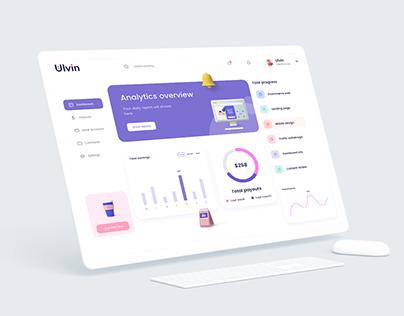 Analytics Dashboard UI kits set