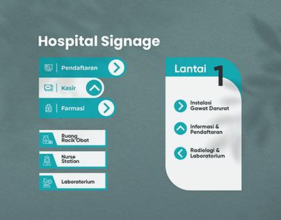 Baros Hospital Signage Design