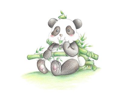 Illustration - Cartoon (Panda)