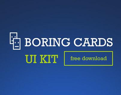 Boring cards UI kit - Free Download