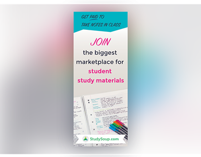 StudySoup Elite Notetaker Pinterest Ad Design