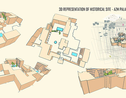 Life reconstruction of Azem palace, Syrian Architecture