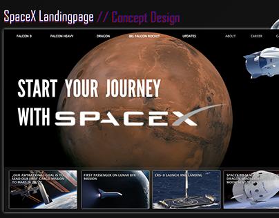 SpaceX Landingpage design