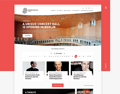 Pierre Boulez Hall Website