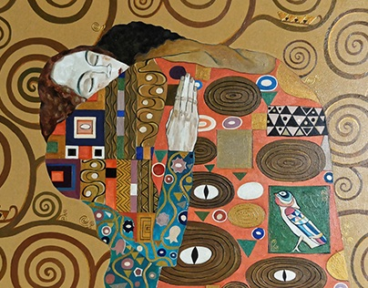 My interpretation of Klimt`s Tree of life. The Embrace