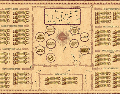 Harry Potter map seating chart