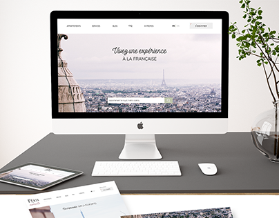 Paris Moments, logotype et webdesign