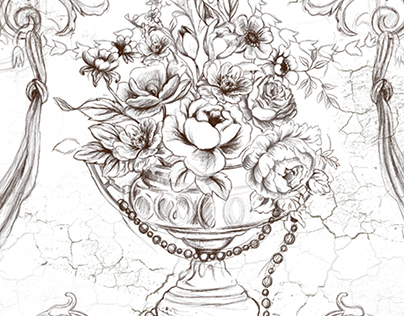 hand drawn curtain design