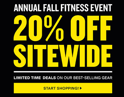 TRX Fall Fitness Sale Emails
