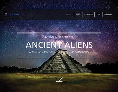 Student Project - Ancient Aliens Tour Website