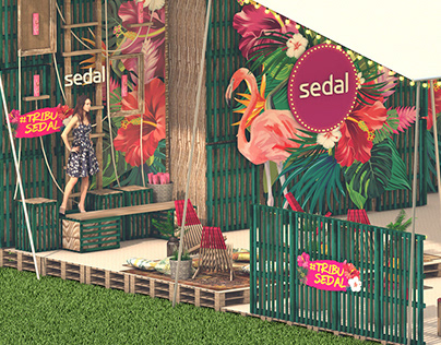 Beach style stand - Sedal Lollapalooza 2018