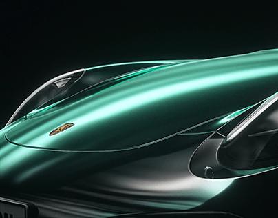Porsche 911 animation rendering