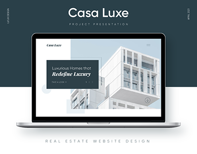 Casa Luxe Real Estate Website Design | Brand Impetus