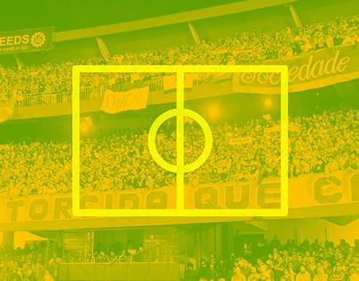 Minimalist logos of Brazilian soccer
