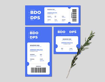 E-Ticket Boarding Pass Design