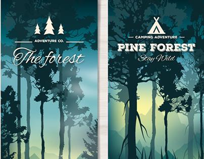 Forest Landscape Banners - Vector Free for Freepik