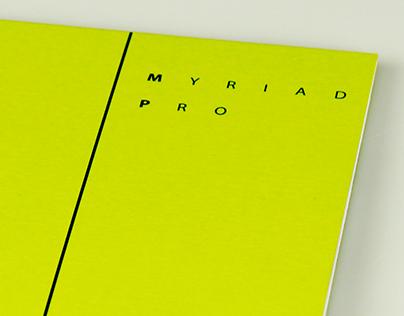 Catalogue of font Myriad Pro