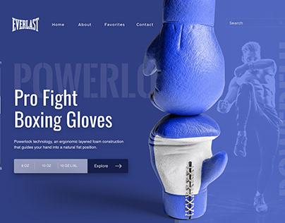 Everlast Boxing Gloves Website Concept Design