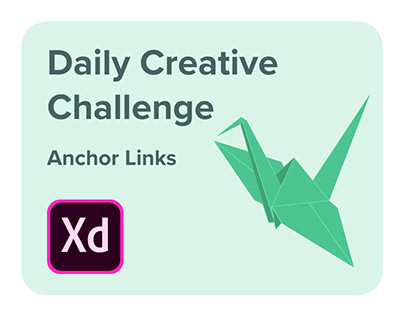 Adobe XD Daily Creative Challenge - Anchor Links