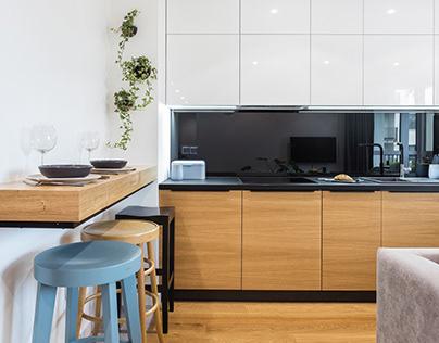 E1585 - salon z kuchnią