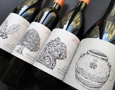 Wine Label Illustration Vineyard Kollerhof