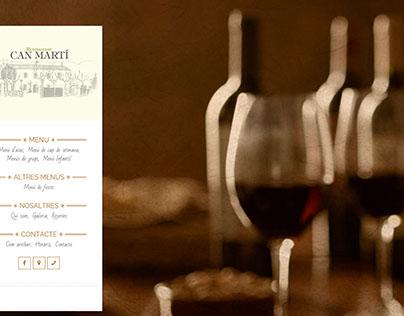 WEB DESIGNER - Restaurant Can Martí
