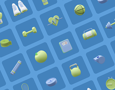 Sweat It - Fitness 3D Icons
