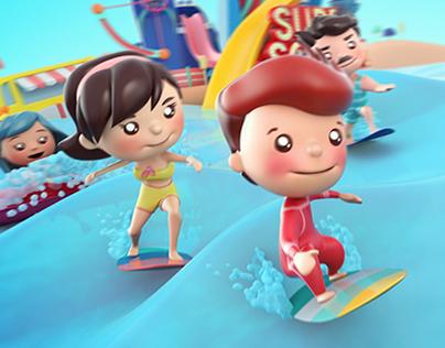 Singtel Surf School Campaign
