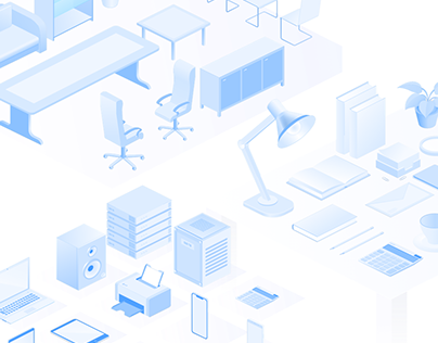 Isometric collection- vector (devices, interior & more)