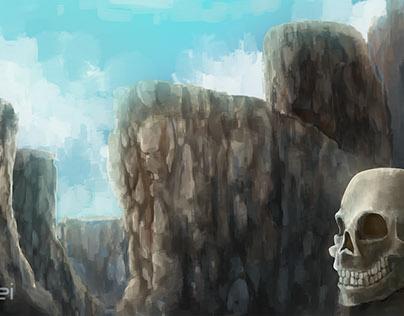 Dry stones - Landscape (Illustration)
