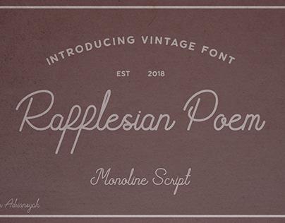 Rafflesian Poem Vintage Font