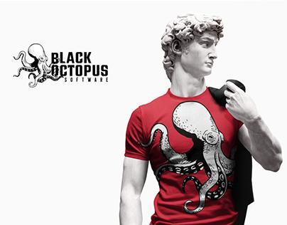Black Octopus logo design