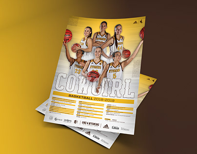 Wyoming WBBALL, Golf, & Spirit Sports Schedule Posters
