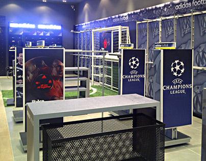 Shop in shop adidas +2Foot Marseille