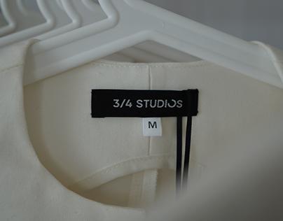 «3/4 studios». Логотип для бренда одежды