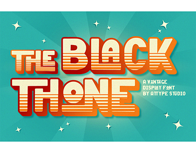 Black Thone – Vintage Display Font