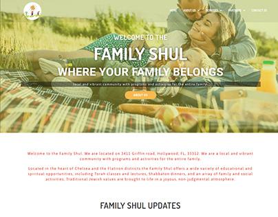 Family shul website design