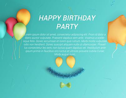 Birthday Invitation Card free Psd