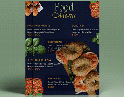 CREATIVE FOOD MENU DESIGN