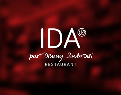 RESTAURANT IDA, logo and branding